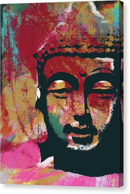 Meditation Canvas Print - Awakened Buddha 4- Art By Linda Woods by Linda Woods