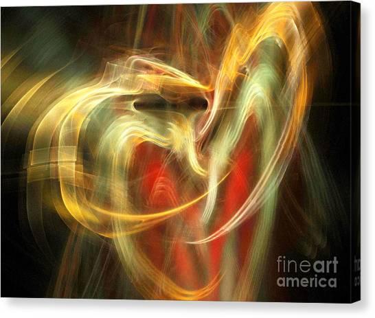 Awakening Heart Canvas Print by Helene Kippert
