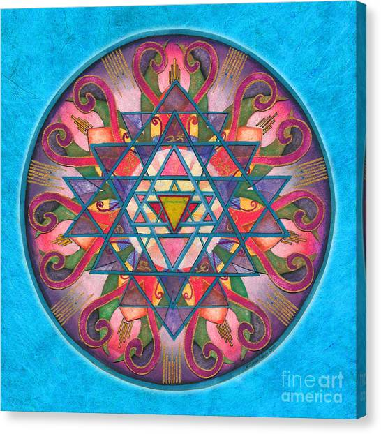 Awareness Mandala Canvas Print