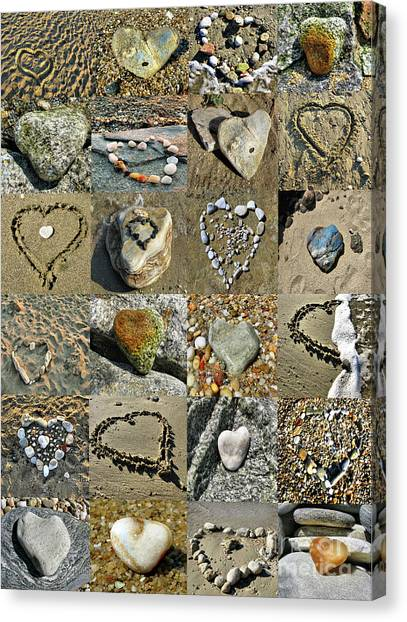 Awesome Hearts Found In Nature - Valentine S Day Canvas Print