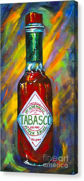 Hot Sauce Canvas Print - Awesome Sauce - Tabasco by Dianne Parks