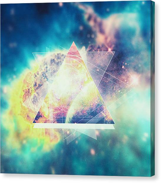 Spock Canvas Print - Awsome Collosal Deep Space Triangle Art Sign by Philipp Rietz