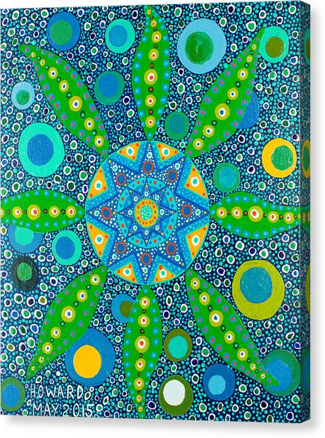Ayahuasca Vision - Inside The Plant Cell  May 2015 Canvas Print