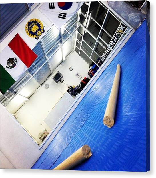 Taekwondo Canvas Print - Ayer @alex12trip Rompió El #jangbong by Abraham Sorkin