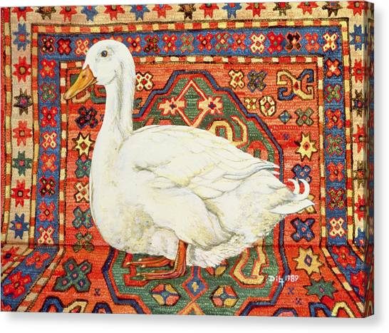 Drake Canvas Print - Aylesbury Carpet Drake by Ditz