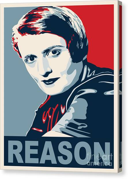 Libertarian Canvas Print - Ayn Rand by John L