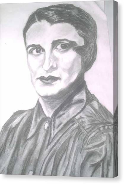Ayn Rand Canvas Print by Nancy Caccioppo