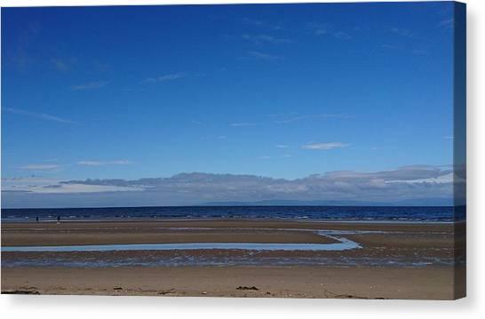 Ayr Beach, Scotland Canvas Print