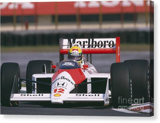 Ayrton Senna. 1988 Mexican Grand Prix Canvas Print