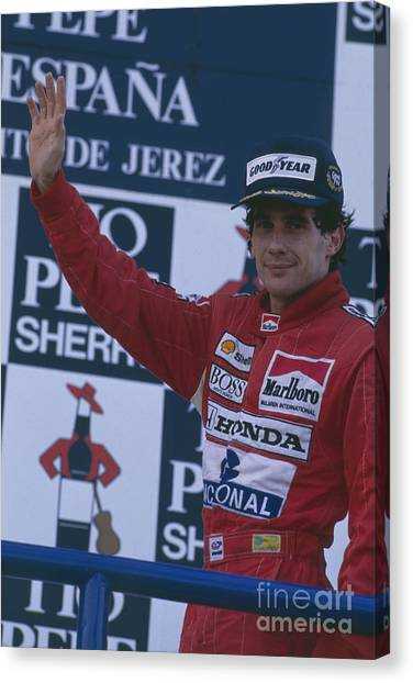 Ayrton Senna. 1989 Spanish Grand Prix Winner Canvas Print