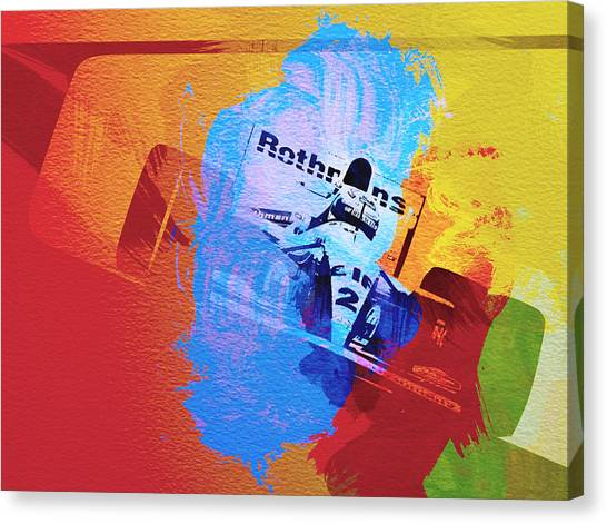 Formula Car Canvas Print - Ayrton Senna by Naxart Studio