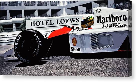 Ayrton Senna - Montecarlo Canvas Print