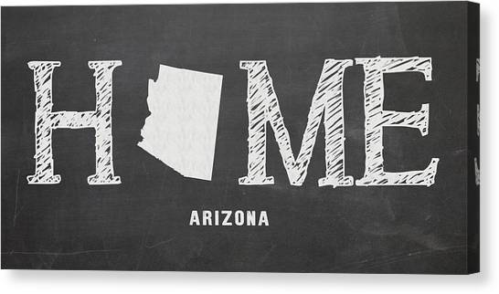 Canvas Print featuring the mixed media Az Home by Nancy Ingersoll