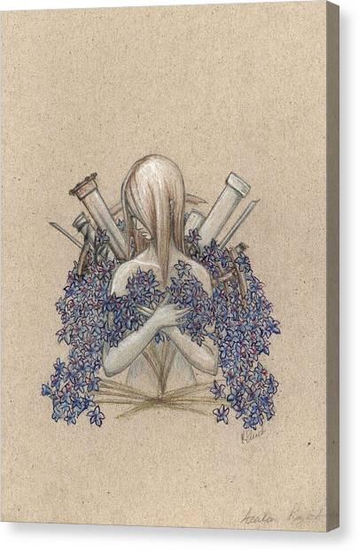Ballpoint Pens Canvas Print - Azalea Regret by Ink-Blank