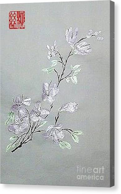 Azaleas Blooming Canvas Print