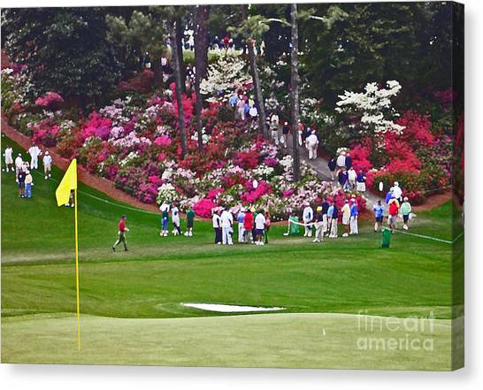 Arnold Palmer Canvas Print - Azaleas In Bloom by David Bearden