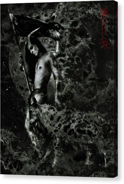 Satan Canvas Print - Azazel by Cambion Art