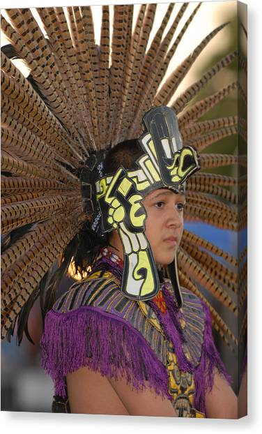 Aztec Dancer Canvas Print by Dennis Hammer