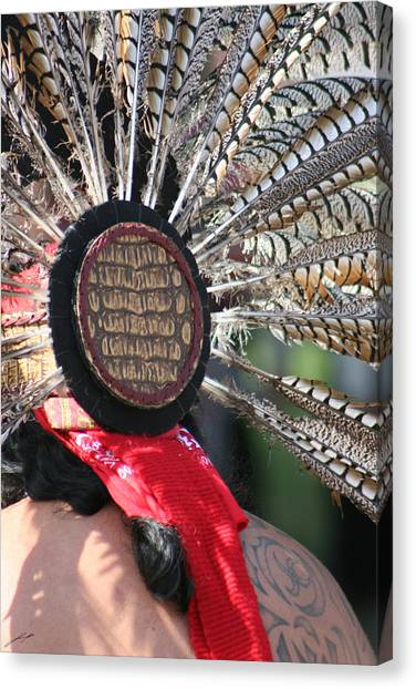 Aztec Danza 1 Canvas Print by LoungeMode Productions