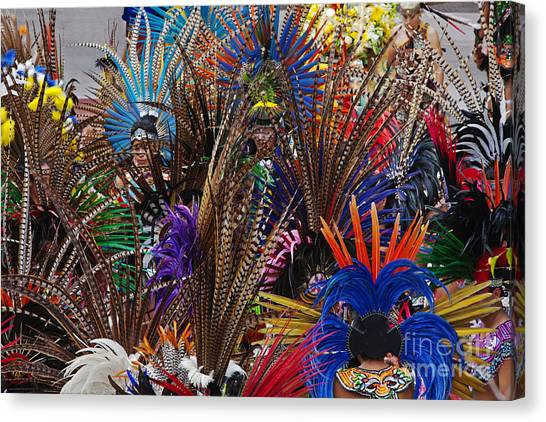 Aztec Feather Dancers - Mexico Canvas Print