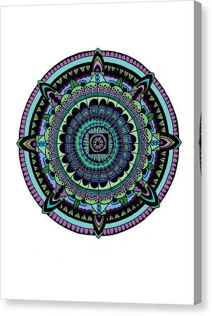 Mandala Canvas Print - Azteca by Elizabeth Davis