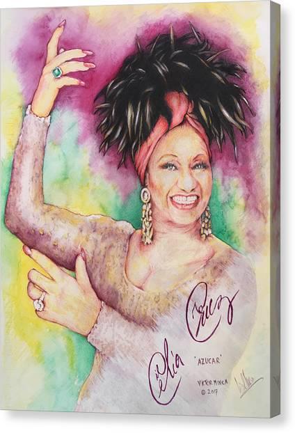 Azucar Celia Cruz Canvas Print
