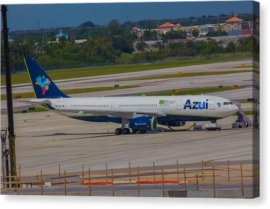 Azul Barzillian Airline Canvas Print