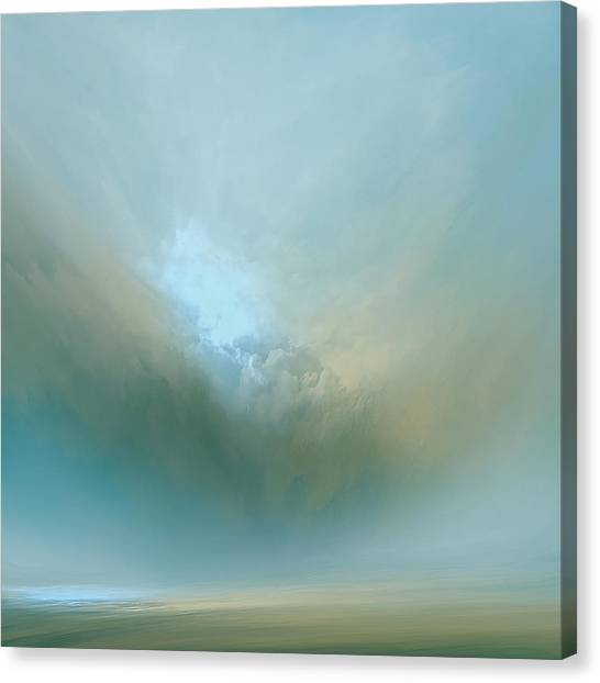 Clouds Canvas Print - Azure Mist by Lonnie Christopher
