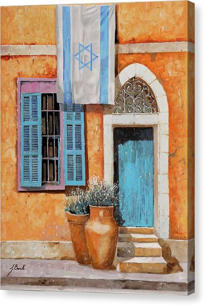 Jerusalem Canvas Print - Azzurro Israele by Guido Borelli