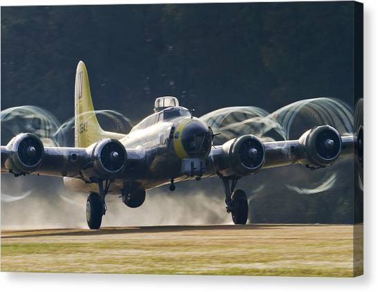 B-17 Chuckie Taking Off Canvas Print