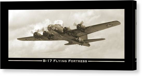 B-17 Flying Fortress Show Print Canvas Print