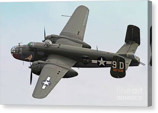 B-25 Mitchell Bomber Aircraft Canvas Print