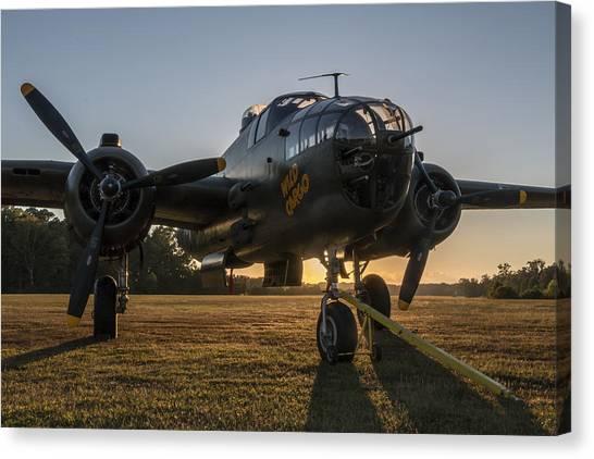 B-25 Mitchell Sunset Canvas Print