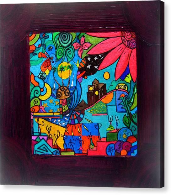 B 3 Canvas Print by MikAn 'sArt