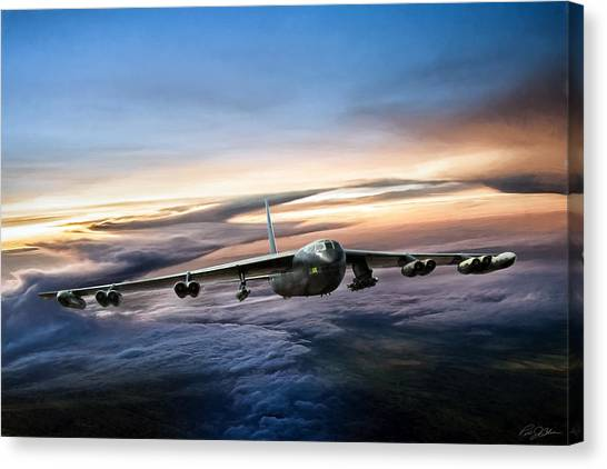 Linebackers Canvas Print - B-52 Inbound by Peter Chilelli