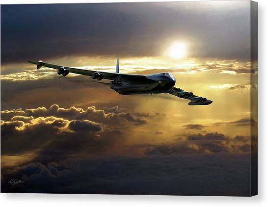 Linebackers Canvas Print - B-52 The Power Of Zeus by Peter Chilelli