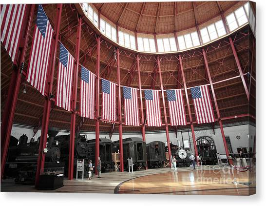 B And O Museum Roundhouse In Baltimore Maryland Canvas Print