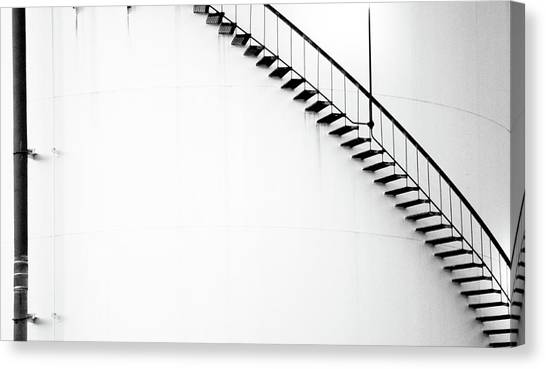 B And W Stairs Canvas Print
