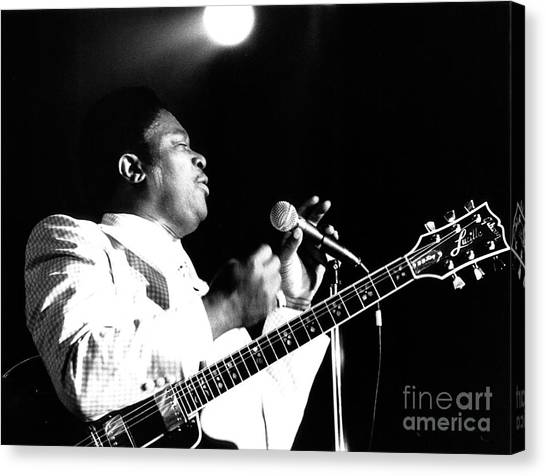 Chris Walter Canvas Print - B B King 1978 by Chris Walter