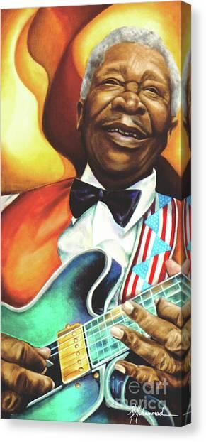 B. B. King Canvas Print by Marcella Muhammad