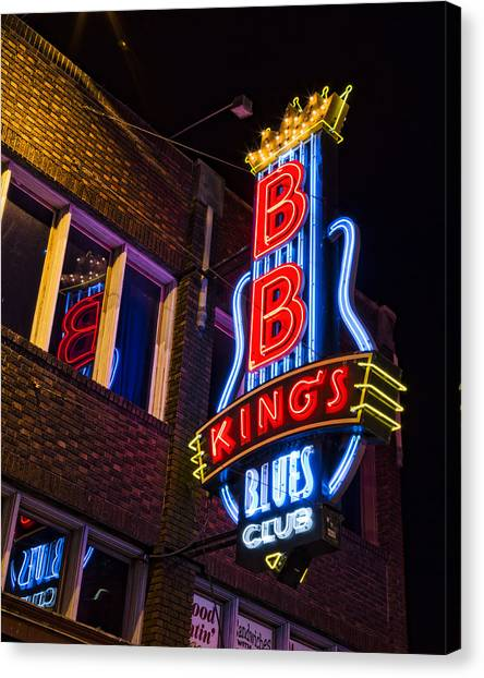B B Kings On Beale Street Canvas Print