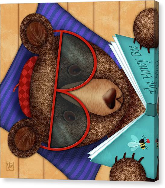 B Is For Brown Bear Canvas Print