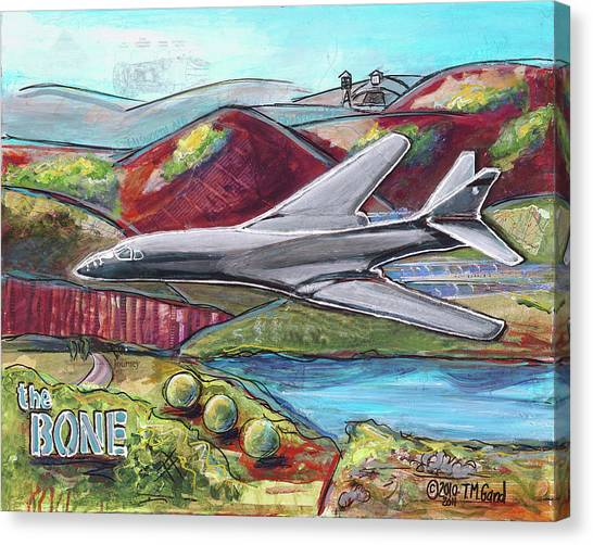 Canvas Print featuring the painting B1-the Bone by TM Gand