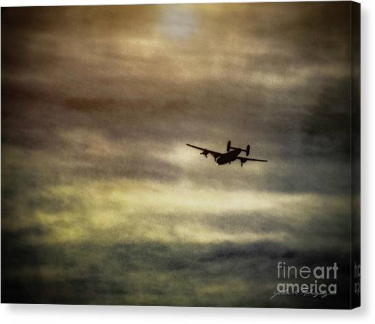 B24 In Flight Canvas Print