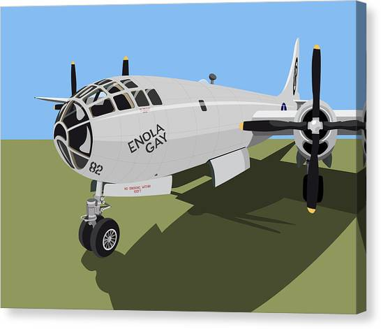 Bombs Canvas Print - B29 Superfortress by Michael Tompsett