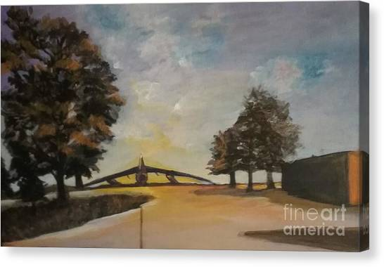 Canvas Print featuring the painting B52 by Saundra Johnson