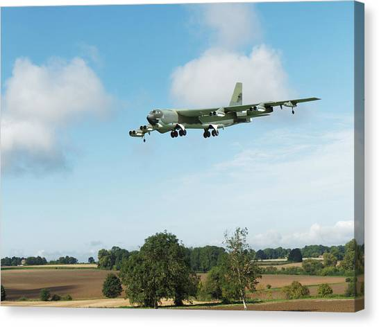 Canvas Print featuring the digital art B52 Stratofortress by Paul Gulliver