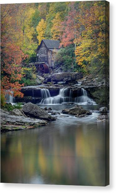 Babcock Grist Mill 2 Canvas Print by Michael Donahue