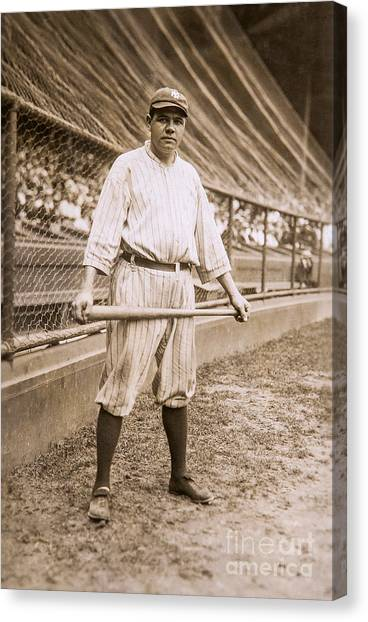 Babe Ruth Canvas Print - Babe Ruth On Deck by Jon Neidert