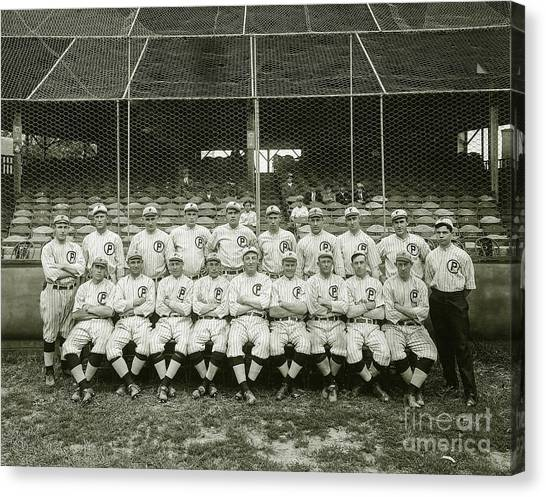 Babe Ruth Canvas Print - Babe Ruth Providence Grays Team Photo by Jon Neidert